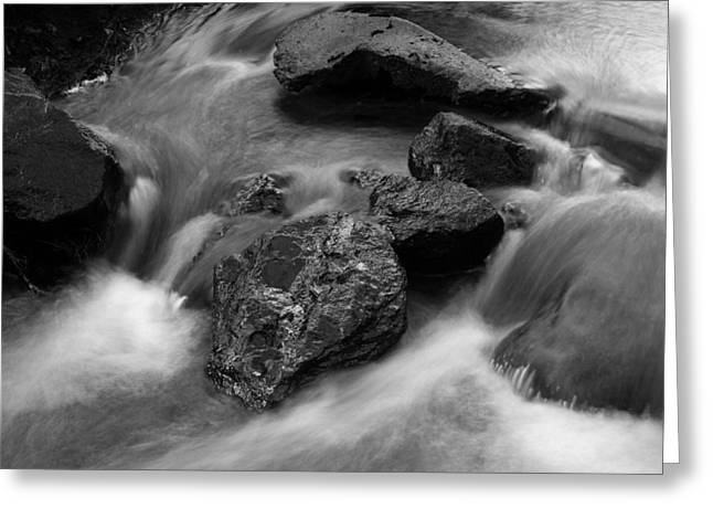 Stream Greeting Cards - Rocky stream Greeting Card by Les Cunliffe
