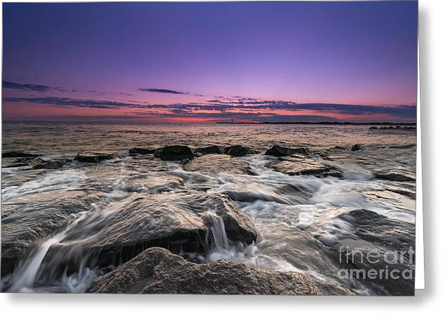 May 24 Greeting Cards - Rocky Sunset at Cape May Greeting Card by Michael Ver Sprill