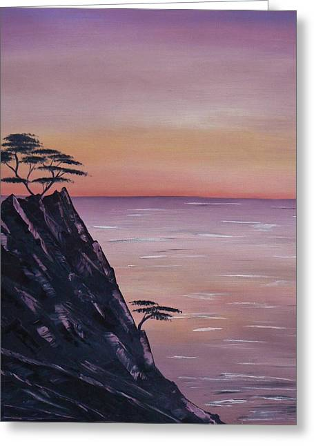 Angeles Forest Greeting Cards - Rocky Sunset Greeting Card by Barbara St Jean