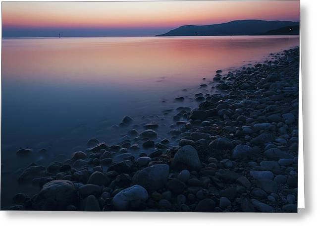 Rocky Sunset Greeting Card by Ian Mitchell