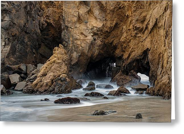 Big Sur California Greeting Cards - Rocky Surf Greeting Card by George Buxbaum