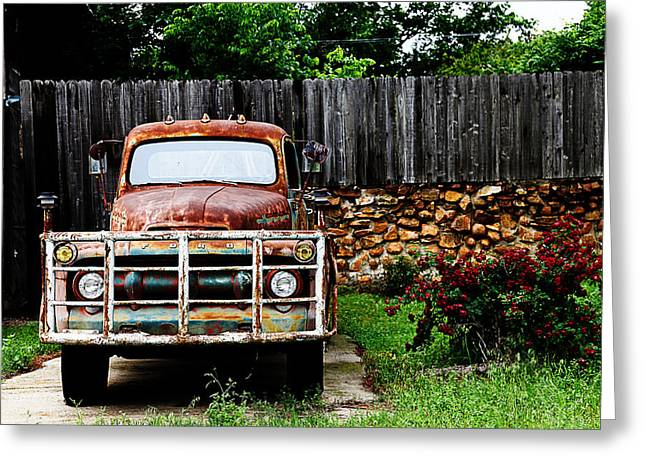 Truck Grill. Fence Greeting Cards - Rocky Greeting Card by Toni Hopper