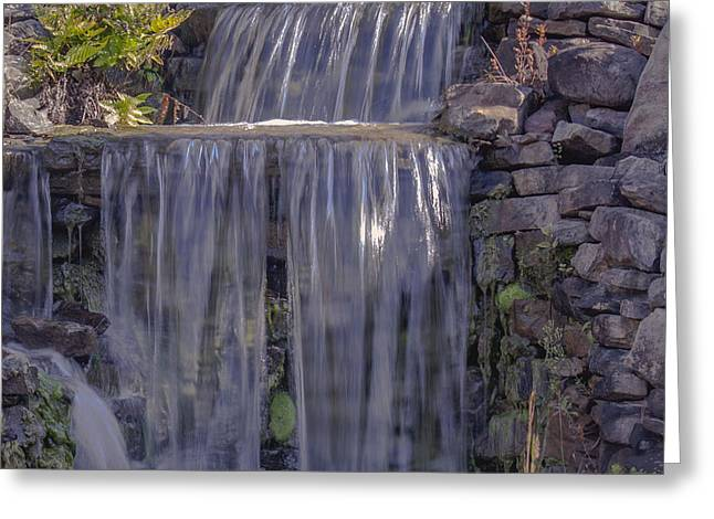 Rocky Waterfall Greeting Card by Michael Waters