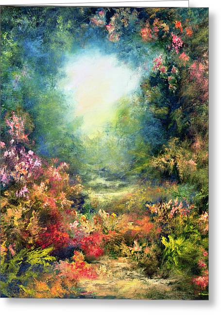 Short Brush Strokes Greeting Cards - Rococo Delight Greeting Card by Hannibal Mane