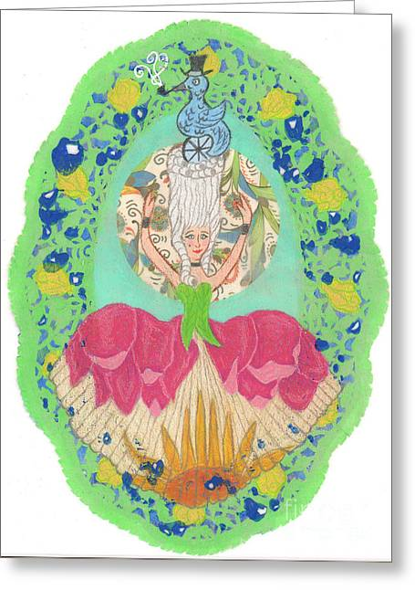 18th Century Mixed Media Greeting Cards - Rococo Fantasy Greeting Card by Juliana Brandon