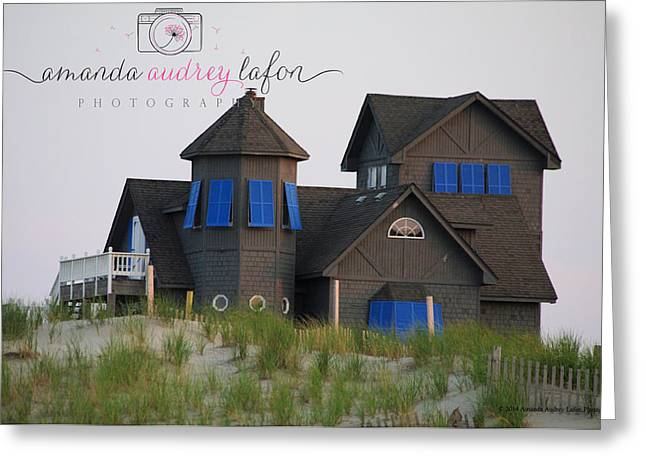 Rodanthe Greeting Cards - Rodanthe Beach House Greeting Card by Amanda Lafon