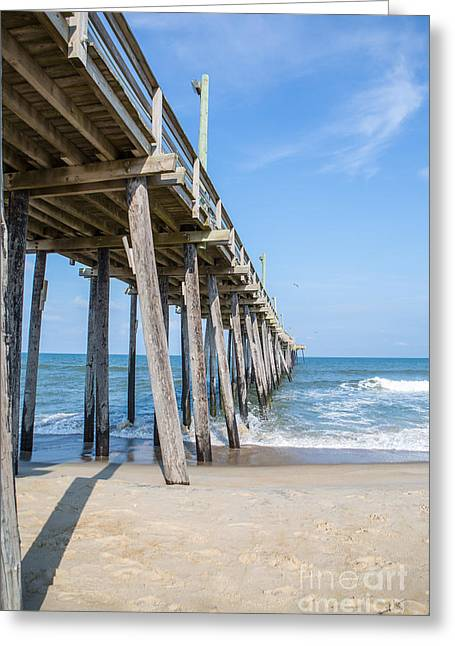 Rodanthe Greeting Cards - Rodanthe Pier Greeting Card by Kay Pickens