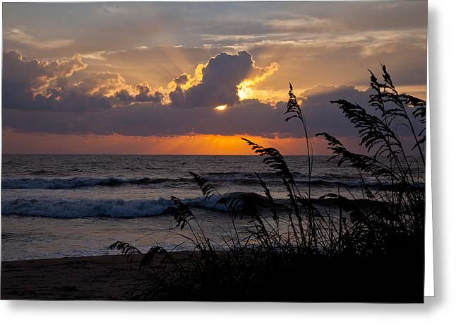 Rodanthe Greeting Cards - Rodanthe Sunrise Greeting Card by Dave Ross Photography