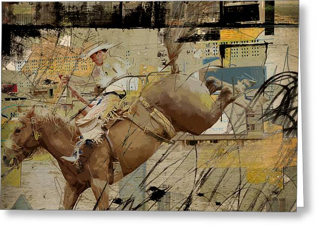 Rodeo Abstract 001 Greeting Card by Corporate Art Task Force