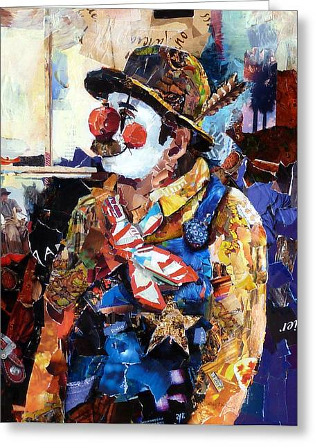 Rodeo Clown Greeting Card by Suzy Pal Powell