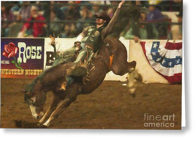 West Greeting Cards - Rodeo Days Greeting Card by Janice Rae Pariza