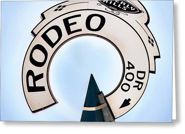 California Art Greeting Cards - Rodeo Drive sign Circagraph Greeting Card by Az Jackson