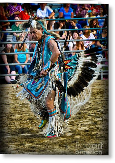 Gathering Greeting Cards - Rodeo Indian Dance Greeting Card by Gary Keesler