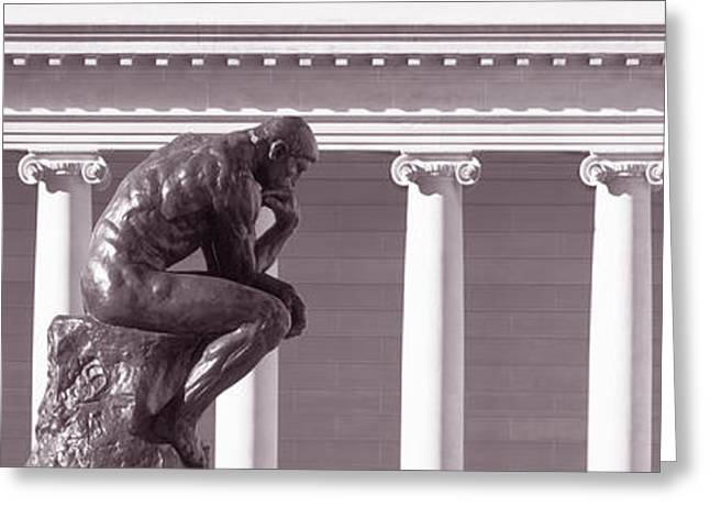 Men Of Honor Photographs Greeting Cards - Rodin Sculpture, San Francisco Greeting Card by Panoramic Images