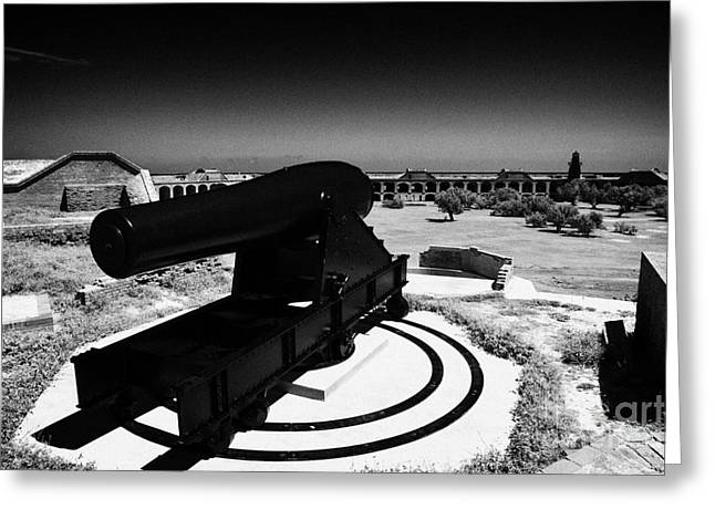 Dry Tortugas Greeting Cards - Rodman Civil War Cannon On Gun Carriage At Fort Jefferson Dry Tortugas National Park Florida Keys Us Greeting Card by Joe Fox