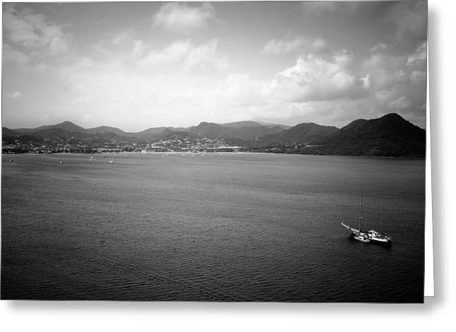 Ocean Landscape Greeting Cards - Rodney Bay St. Lucia Greeting Card by Ferry Zievinger
