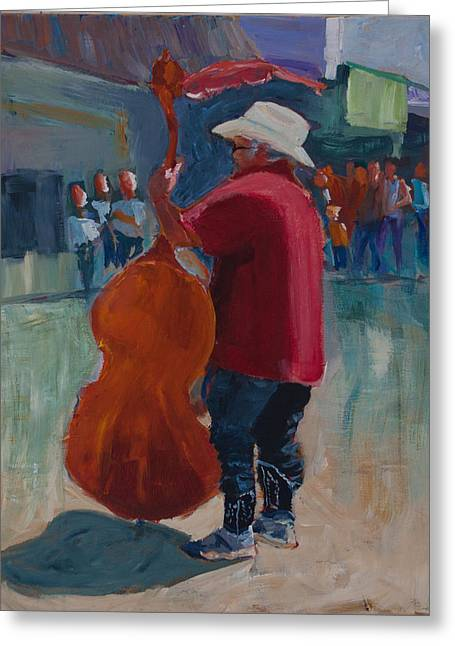Sneakers Paintings Greeting Cards - Rodney Greeting Card by Paulette B Wright