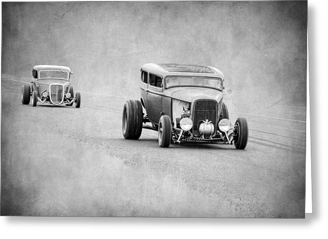 Graffitti Coupe Greeting Cards - Rodz Greeting Card by Steve McKinzie