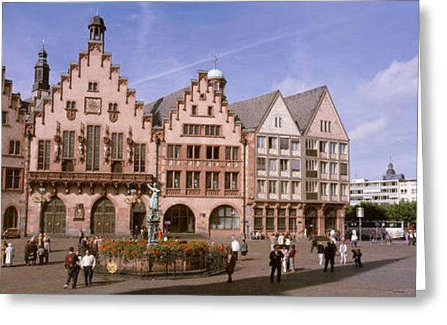 Commercial Photography Greeting Cards - Roemer Square, Frankfurt, Germany Greeting Card by Panoramic Images