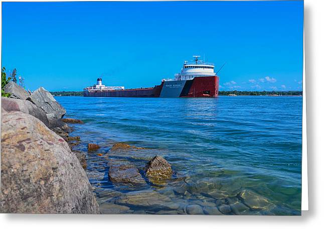 Saint Christopher Photographs Greeting Cards - Roger Blough at Mission Point Greeting Card by Gales Of November