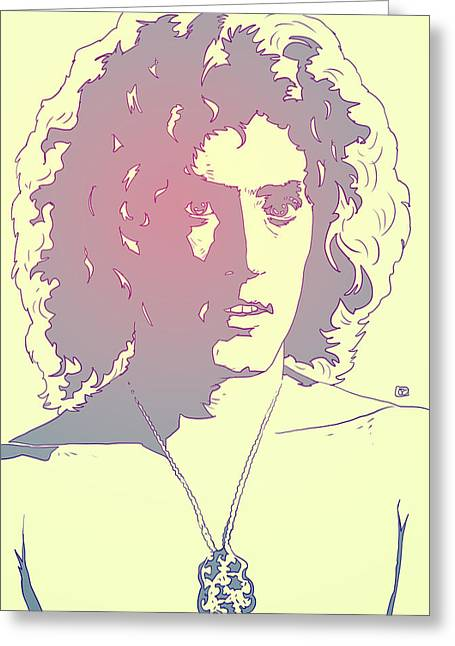 The Drawings Greeting Cards - Roger Daltrey Greeting Card by Giuseppe Cristiano