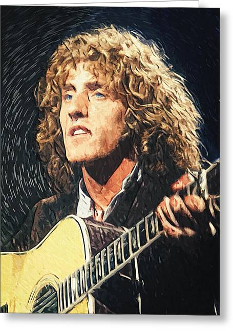 80s Pop Music Greeting Cards - Roger Daltrey Greeting Card by Taylan Soyturk