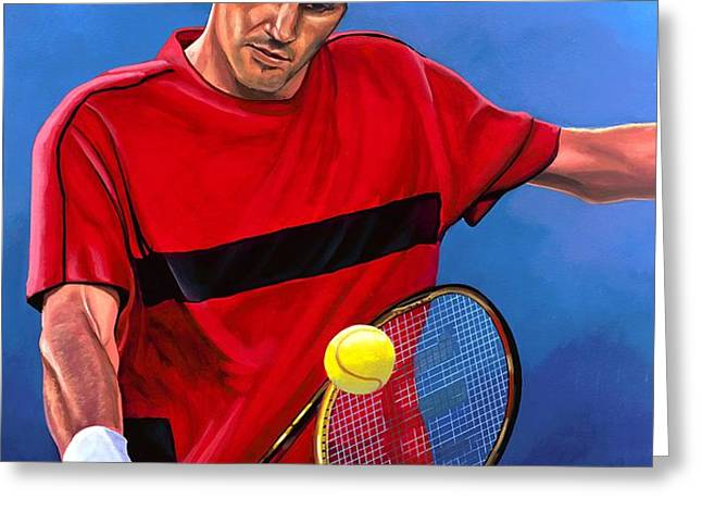 Roger Federer 2 Greeting Card by Paul  Meijering