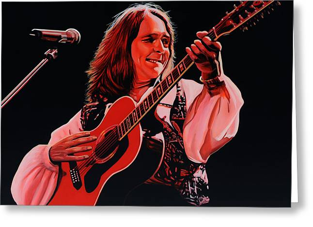 Roger Hodgson Of Supertramp Greeting Card by Paul Meijering