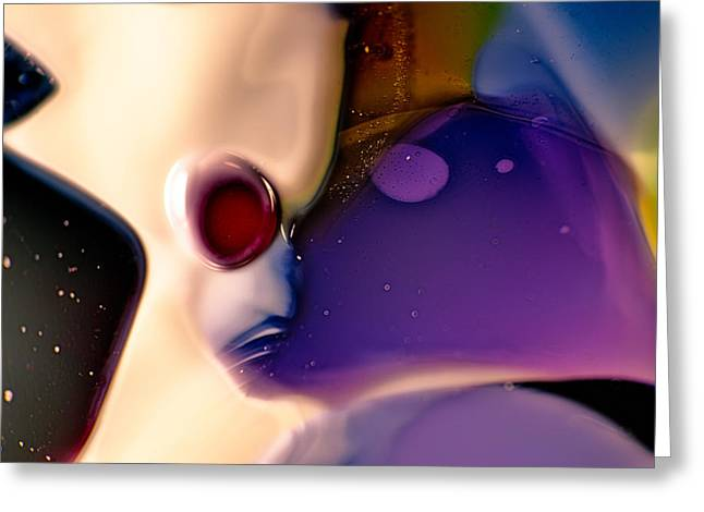 Psychedelic Glass Greeting Cards - Roger Greeting Card by Omaste Witkowski