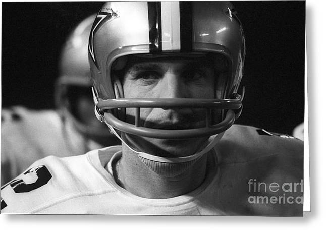 Staubach Greeting Cards - Roger Staubach Dallas Cowboys Greeting Card by Ross Lewis