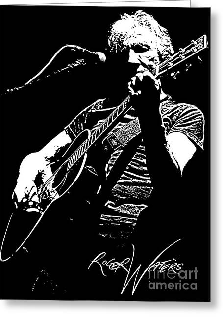Rock Guitar Player Greeting Cards - Roger Waters No.01 Greeting Card by Caio Caldas