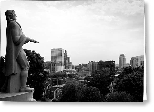 Prospects Greeting Cards - Roger Williams Statue Greeting Card by Michael Dorn