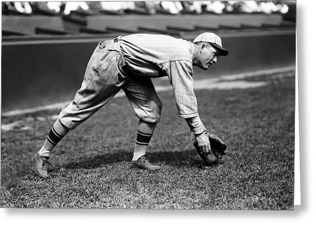 Rogers Hornsby Fielding Practice Greeting Card by Retro Images Archive