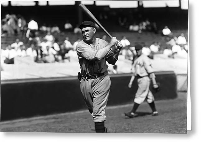 Rogers Hornsby Follow Through Swing Greeting Card by Retro Images Archive