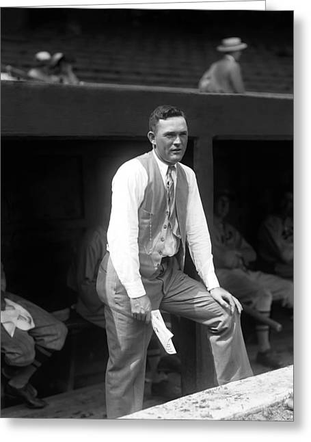 Historical Pictures Greeting Cards - Rogers Hornsby In Suit Greeting Card by Retro Images Archive