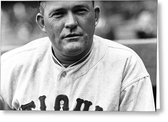 Rogers Hornsby Looking Focused Greeting Card by Retro Images Archive