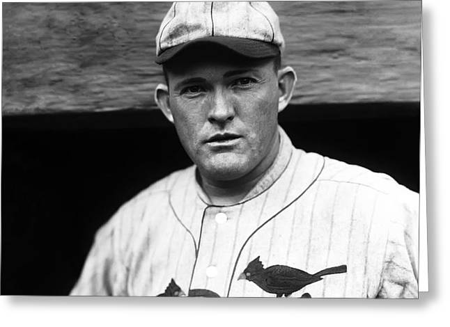Rogers Hornsby Looking Into Camera Greeting Card by Retro Images Archive