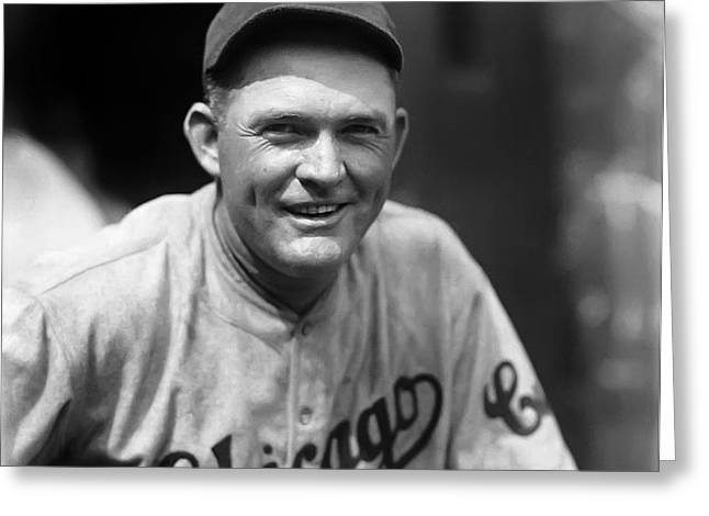 Rogers Hornsby Smiling In Cubs Jersey Greeting Card by Retro Images Archive