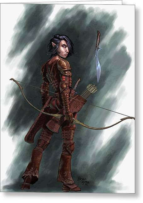Half Elf Greeting Cards - Rogue Greeting Card by Bryan Syme