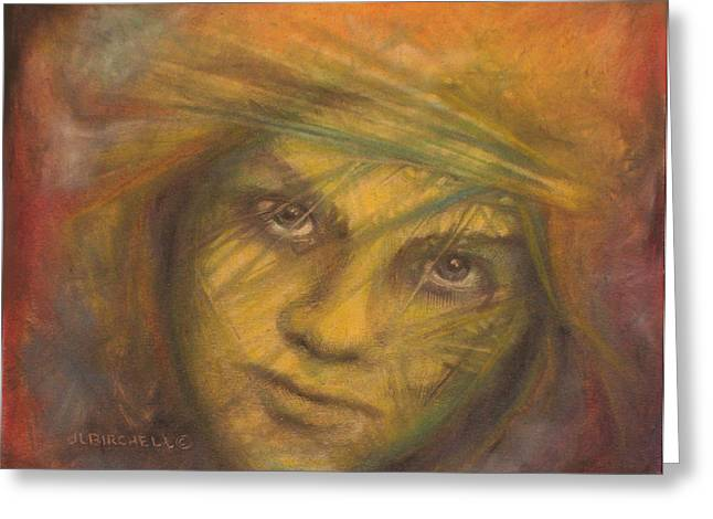 Jesus Pastels Greeting Cards - Rogue Greeting Card by Debra Lynn Birchell