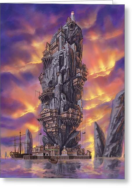 Port Town Greeting Cards - Rogue Haven Greeting Card by Bryan Syme