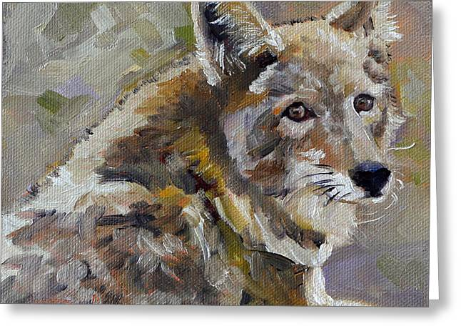 Sly Greeting Cards - Rogue Greeting Card by Pattie Wall