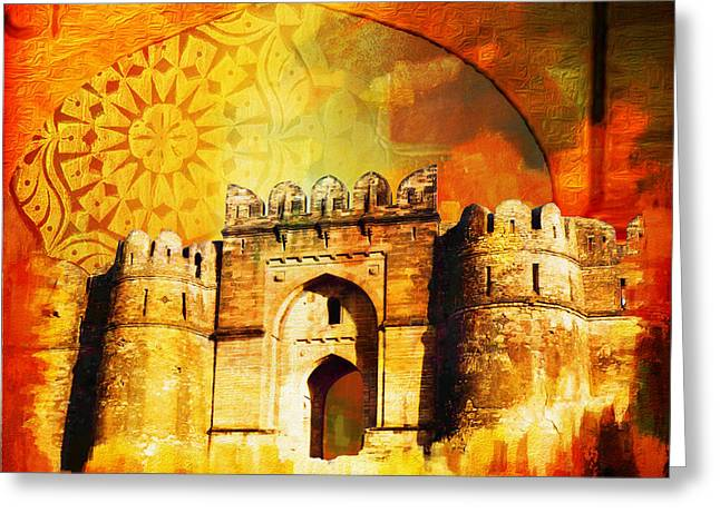 Pakistan Greeting Cards - Rohtas Fort 00 Greeting Card by Catf