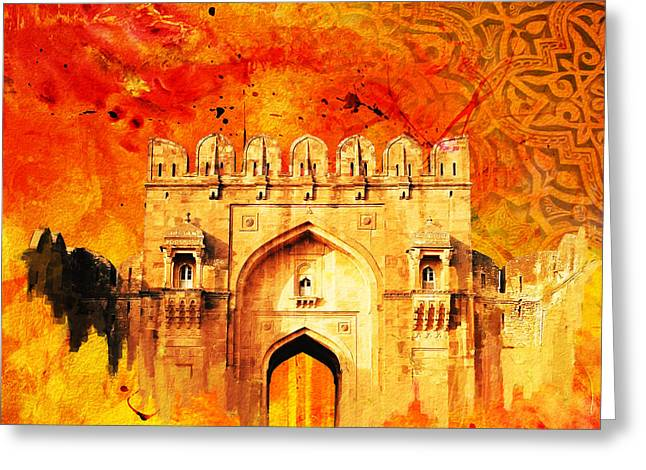 Akbar Shahjahan Greeting Cards - Rohtas Fort 01 Greeting Card by Catf