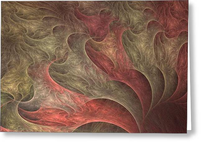 Roling Greeting Cards - Roiling Pink Vortex Greeting Card by Doug Morgan