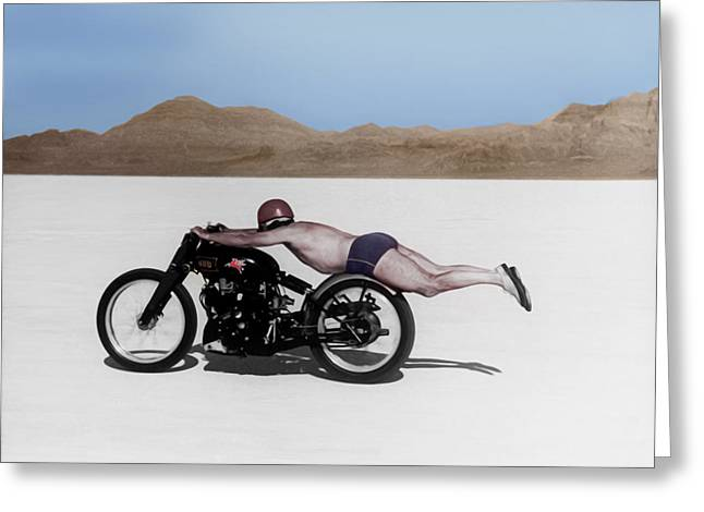 Motorcycle Greeting Cards - Roland Rollie Free Greeting Card by Mark Rogan