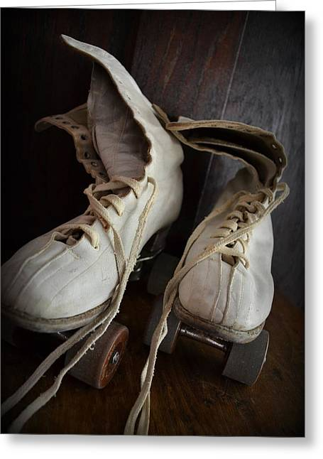 Old Skates Photographs Greeting Cards - Roll Away Greeting Card by Michelle Calkins