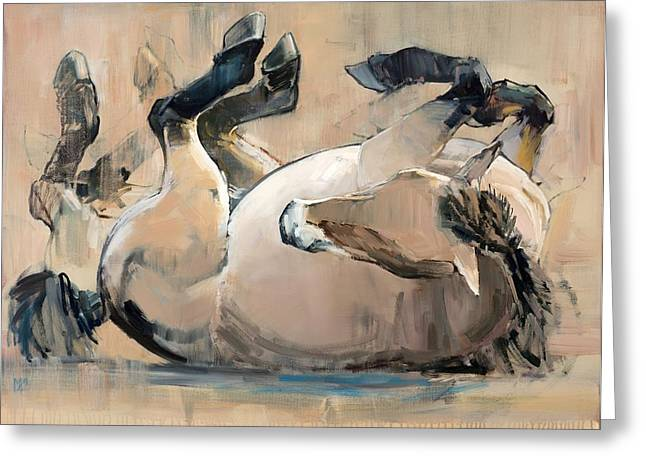 Equus Greeting Cards - Roll Greeting Card by Mark Adlington