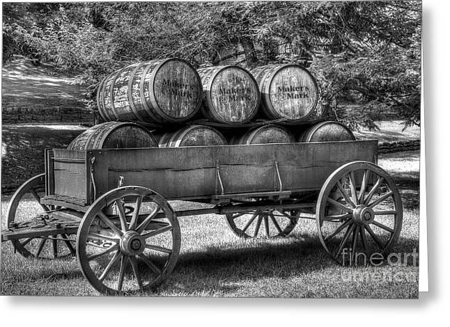 Barrel Greeting Cards - Roll Out The Barrels Greeting Card by Mel Steinhauer