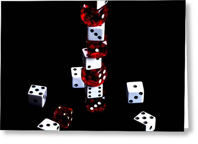 Crisp Digital Art Greeting Cards - Roll the Dice Greeting Card by Camille Lopez